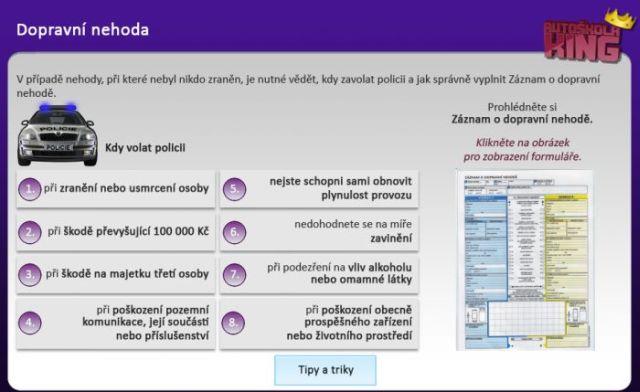 Ukázka z online školení řidičů